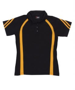 Women's Cool Best Polo - 12, Black/Gold