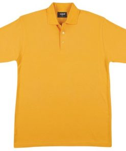 Men's Jersey Polo - S, Gold