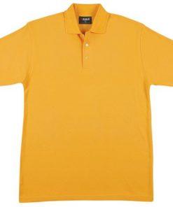 Men's Jersey Polo - M, Gold