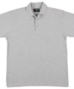 Men's Regular Polo - L, Grey Marle