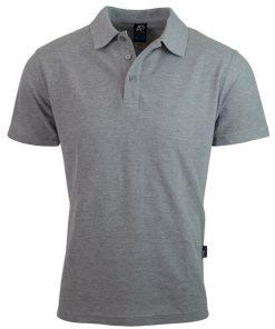 Men's Hunter Polo - L, Grey Marle