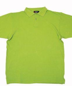 Men's Pastel Polo - M, Lime