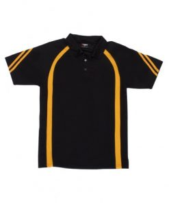 Men's Cool Best Polo - Black/Gold, 2XL