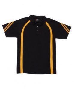 Men's Cool Best Polo - Black/Gold, 3XL