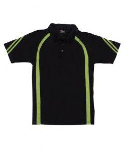 Men's Cool Best Polo - Black/Lime, 2XL