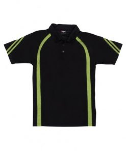 Men's Cool Best Polo - Black/Lime, XL
