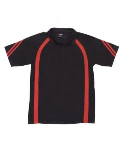 Men's Cool Best Polo - Black/Red, L