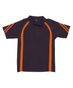 Men's Cool Best Polo - Charcoal/Orange, 2XL