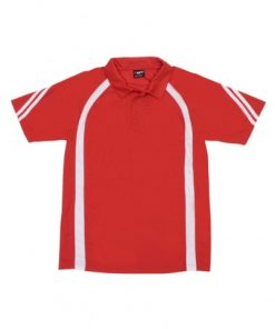 Men's Cool Best Polo - Red/White, 3XL