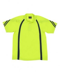 Men's Cool Best Polo - Yellow/Navy, 2XL
