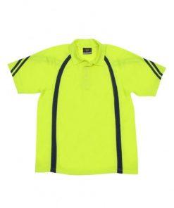 Men's Cool Best Polo - Yellow/Navy, XL