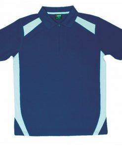 Men's Cool Sports Polo - Ocean Blue/Sky, M