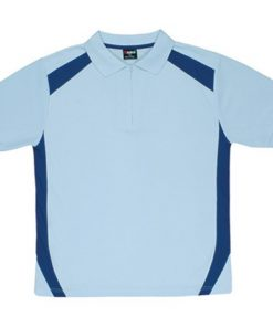 Men's Cool Sports Polo - Sky/Ocean Blue, S
