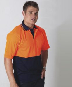 Men's Hi Vis Micromesh Cotton B/ED S-S Polo