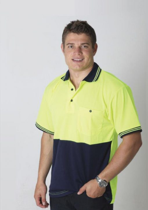 Men's Hi Viz Micromesh Short Sleeve Polo