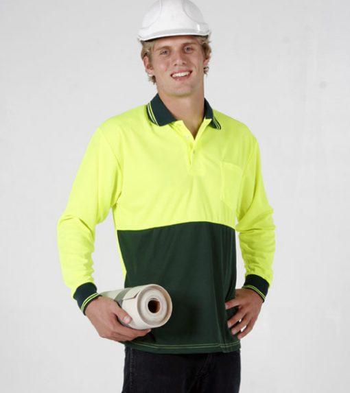 Men's Long Sleeve Safety Polo