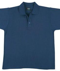 Men's Jersey Polo - M, Navy