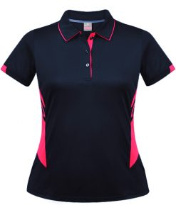 Women's Tasman Polo - 22, Navy/Neon Pink