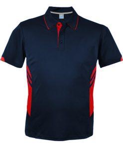 Men's Tasman Polo - L, Navy/Red