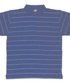 Men's Golf Polo - M, Navy/Sky