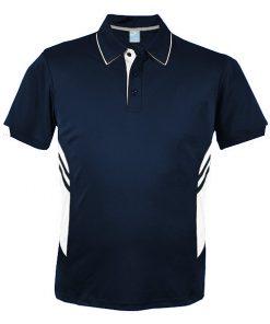 Men's Tasman Polo - XL, Navy/White