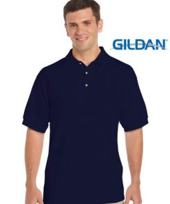 Men's Ultra Cotton Adult Jersey Sport Polo - L, Navy