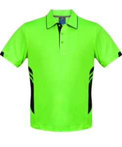 Men's Tasman Polo - 3XL, Neon Green/Black