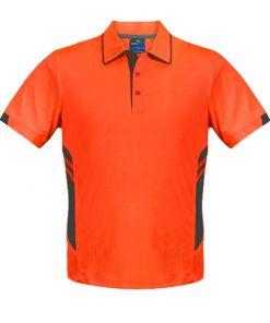 Men's Tasman Polo - L, Neon Orange/Slate