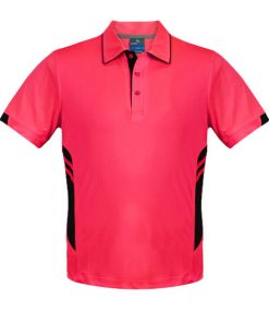 Men's Tasman Polo - 2XL, Neon Pink/Black
