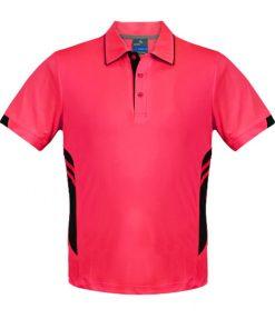 Men's Tasman Polo - L, Neon Pink/Black