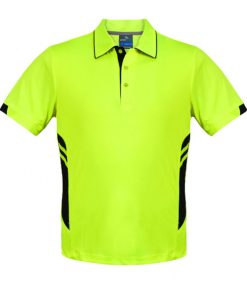 Men's Tasman Polo - 2XL, Neon Yellow/Black