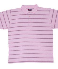 Men's Golf Polo - M, Pink/Black