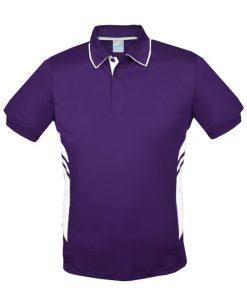 Men's Tasman Polo - S, Purple/White