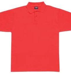 Men's Pique Polo - S, Red
