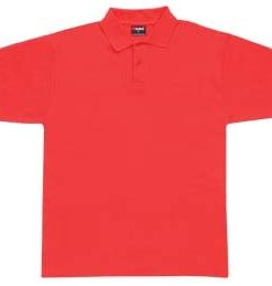 Men's Pique Polo - L, Red