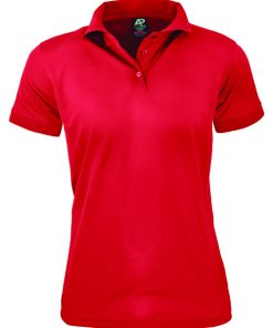 Women's Lachlan Polo - 14, Red