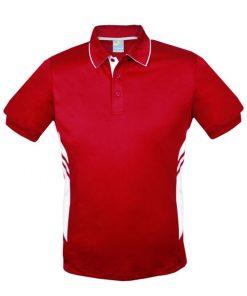 Men's Tasman Polo - S, Red/White