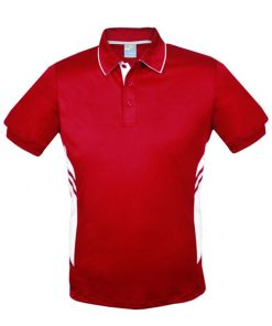 Men's Tasman Polo - L, Red/White