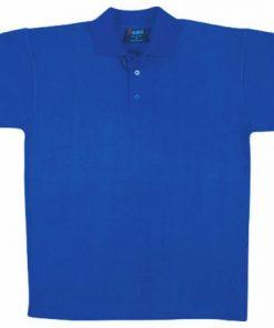 Men's Jersey Polo - L, Royal