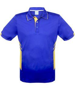 Men's Tasman Polo - L, Royal/Gold