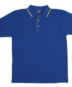 Men's Double Strip Polo - XL, Royal/Gold