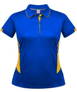 Women's Tasman Polo - 16, Royal/Gold