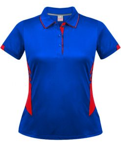 Women's Tasman Polo - 10, Royal/Red