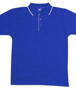 Men's Double Strip Polo - XL, Royal/White