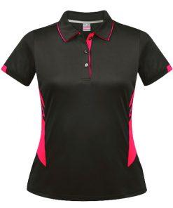 Women's Tasman Polo - 4, Slate/Neon Pink