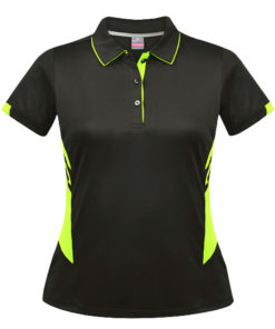 Women's Tasman Polo - 10, Slate/Neon Yellow