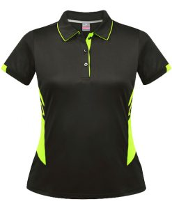 Women's Tasman Polo - 22, Slate/Neon Yellow