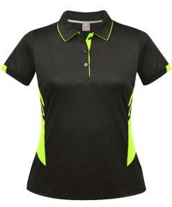 Women's Tasman Polo - 4, Slate/Neon Yellow