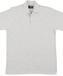 Men's Jersey Polo - S, Snow Marle