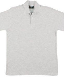 Men's Jersey Polo - L, Snow Marle